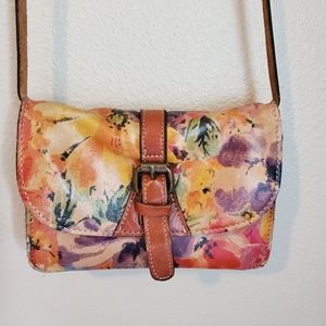 Patricia Nash Small Floral Crossbody Bag
